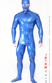 Neck entry fullsuit M - metallic blue