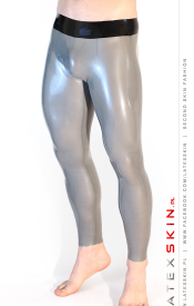 Pouch leggings (metallic silver)