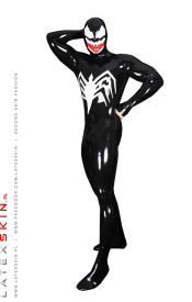 Black Spider Net Neck Entry Suit